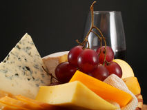 Cheese And Wine Royalty Free Stock Photography