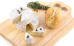 Free Cheese With White Mold And Herbs Stock Images - 13390934