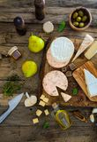 Cheese on wood Royalty Free Stock Photos