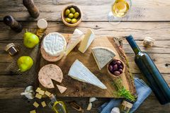 Cheese on wood Royalty Free Stock Photography