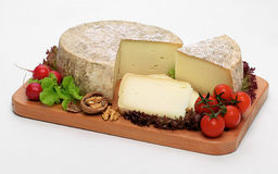 Cheese on wooden board Royalty Free Stock Photo