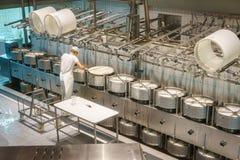 Cheese worker Stock Photo
