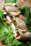 Cheese wrap platter Royalty Free Stock Photos