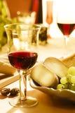 cheese0 κρασί Στοκ Εικόνες