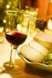 cheese0 κρασί Στοκ Φωτογραφίες