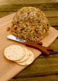 Cheeseball with walnuts Royalty Free Stock Photography