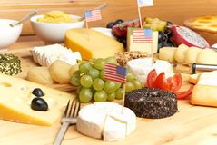 Cheeseboard Royalty Free Stock Photography