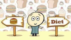 Cheeseburger ή διατροφή επιλογής διανυσματική απεικόνιση