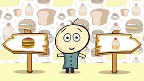 Cheeseburger ή κέικ επιλογής ελεύθερη απεικόνιση δικαιώματος