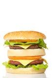 cheeseburger διπλάσιο Στοκ εικόνες με δικαίωμα ελεύθερης χρήσης