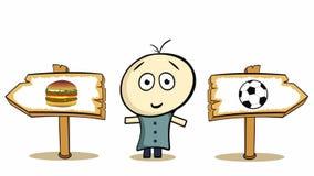 Cheeseburger και ποδόσφαιρο επιλογής διανυσματική απεικόνιση