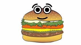Cheeseburger και συγκινήσεις διανυσματική απεικόνιση