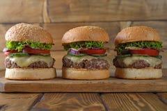 cheeseburger φρέσκο στοκ εικόνες