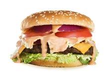 cheeseburger вкусный Стоковое Фото