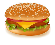 Cheeseburger. Photo-realistic  illustration of the cheeseburger Stock Photo
