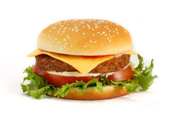 Cheeseburger Images libres de droits