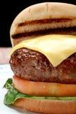 cheeseburger Fotografering för Bildbyråer
