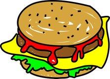 cheeseburger иллюстрация вектора