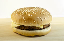 Cheeseburger. On a white background Stock Photography