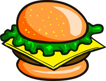 Cheeseburger Royalty Free Stock Photo