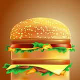 Cheeseburger. On gradient background. Vector Stock Photography