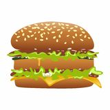 Cheeseburger Vektor Abbildung
