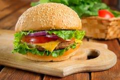 cheeseburger foto de archivo libre de regalías