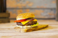 cheeseburger fotografia stock