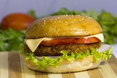 cheeseburger Royaltyfri Bild