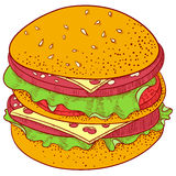 cheeseburger stock illustrationer