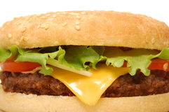 Cheeseburger Fotografia de Stock Royalty Free