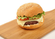 Cheeseburger angled Stock Photo