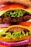 Cheeseburger backgroun Stockbild