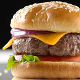 Cheeseburger closeup Royalty Free Stock Photo