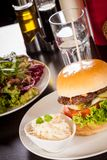 Cheeseburger with cole slaw Royalty Free Stock Photo