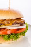 Cheeseburger with cole slaw Stock Photos