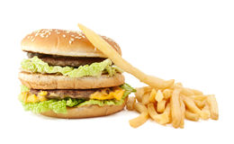 cheeseburger dłoniaki obrazy royalty free