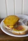 Cheeseburger de Veggie Images libres de droits