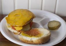 Cheeseburger de Veggie Photo stock
