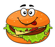 Cheeseburger de viande savoureux dessus Images libres de droits