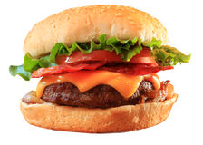 Cheeseburger do bacon Fotos de Stock Royalty Free