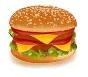 Cheeseburger doble. Fotografía de archivo libre de regalías