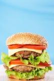 Cheeseburger doble imágenes de archivo libres de regalías