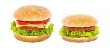 Cheeseburger e Hamburger foto de stock