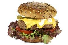 Cheeseburger fait maison images libres de droits