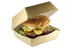 Cheeseburger fait maison photographie stock libre de droits