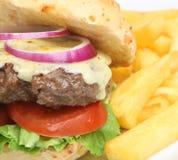 Cheeseburger & Fries royalty free stock image