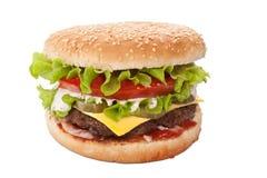 Cheeseburger grande sabroso Imagen de archivo libre de regalías