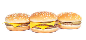 Cheeseburger and hamburger Stock Photo