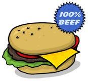 cheeseburger ilustracja Fotografia Royalty Free